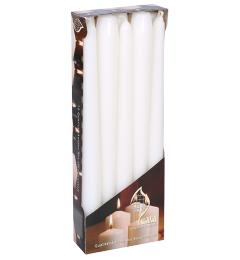 Salonske konusne sveće 10 kom - Bele
