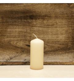 Sveća valjak 9x4cm - krem