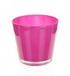 Staklena saksija 16 x 15 cm - pink