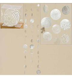Viseća dekoracija od sedefa L120 cm - bela