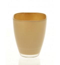 Staklena vaza, saksija 17 x 13,5 cm - bež DOSTUPNO SAMO U MALOPRODAJI
