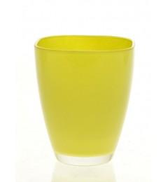 Staklena vaza 17 x 13,5 cm - svetlo zelena