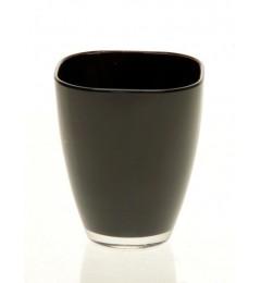 Staklena vaza 17 x 13,5 cm - crna