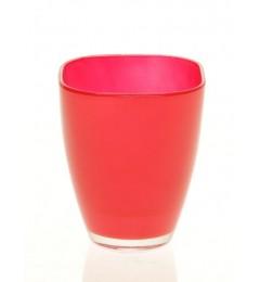 Staklena vaza 17 x 13,5 cm - crvena