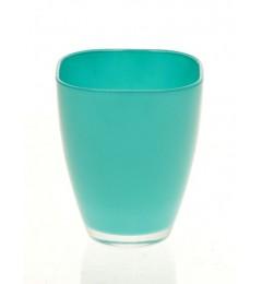 Staklena vaza 13 x 10,8 cm - tirkizna