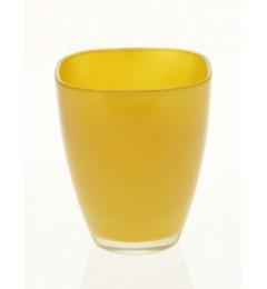 Staklena vaza 13 x 10,8 cm - oker žuta