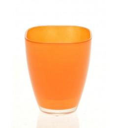Staklena vaza 13 x 10,8 cm - narandžasta DOSTUPNO SAMO U MALOPRODAJI