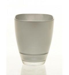 Staklena vaza 13 x 10,8 cm - srebrna