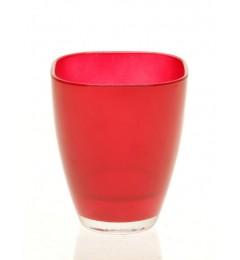 Staklena vaza 13 x 10,8 cm - tamno crvena