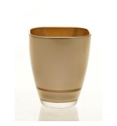 Staklena vaza 13 x 10,8 cm - zlatna