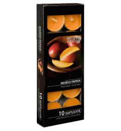 Mirisne čajne sveće 10 kom - Mango i papaja