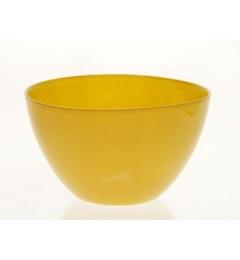 Staklena činija, saksija 10,3 x 16,5 cm oker žuta