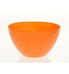 Staklena činija, saksija 10,3 x 16,5 cm - narandžasta