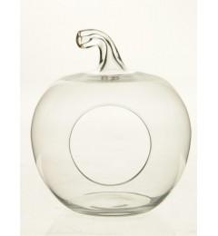 Staklena činija jabuka - transparent