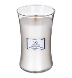 Wood Wick Mirisna sveća u tegli L - Coconut Tonka (badem, kokos, tonka, mošus, vanila)