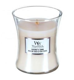 Wood Wick Mirisna sveća u tegli M - Coconut Tonka (badem, kokos, tonka, mošus, vanila)