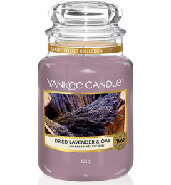 Mirisna sveća u tegli L - Dried Lavender & Oak (lavanda i začini)