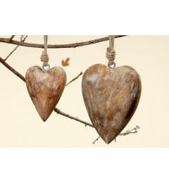 Viseća dekoracija od drveta  Srce - 10 cm