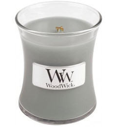 WoodWick mirisna sveća u tegli Mini - Fireside (amber, vetiver, mošus)