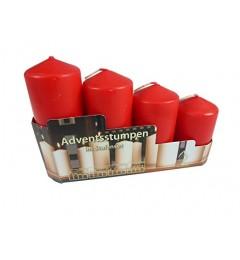 Set sveća / 4 kom - crvene