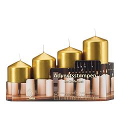 Set sveća / 4 kom - zlatne