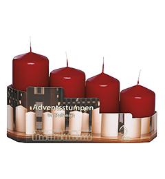 Set sveća / 4 kom - bordo