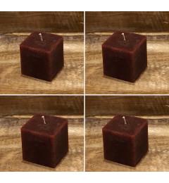 Rustična sveća kocka 5,5x5,5 cm Violet - 4 kom