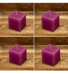 Rustična sveća kocka 5,5 x 5,5 cm Pink - 4 kom