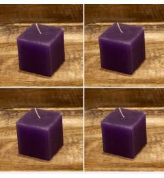 Rustična sveća kocka 5,5 x 5,5 cm Ljubičasta - 4 kom
