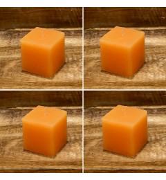 Rustična sveća kocka 5,5x5,5 cm Boja meda - 4 kom