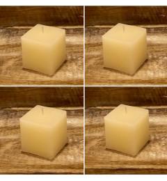Rustična sveća kocka 5,5x5,5 cm Krem - 4 cm
