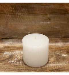 Rustična sveća valjak 8x7 cm - Bela - 1 kom
