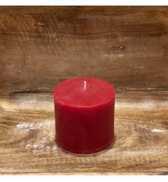 Rustična sveća valjak 8x7 cm  Crvena  1 kom