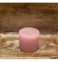 Rustična sveća valjak 8x7 cm  Roza  1 kom