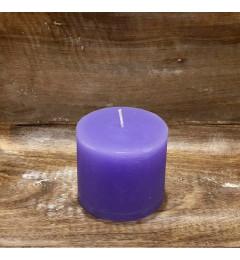 Rustična sveća valjak 8 x 7 cm Svetlo ljubičasta - 1 kom