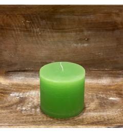 Rustična sveća valjak 8 x 7 cm Svetlo zelena - 1 kom