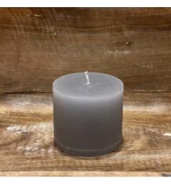 Rustična sveća valjak 8 x 7 cm Siva - 1 kom