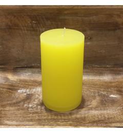Rustična sveća valjak 8 x 14 cm Žuta - 1 kom
