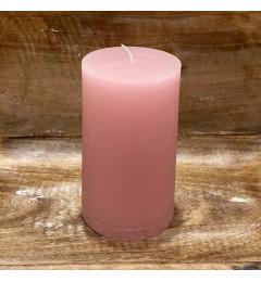 Rustična sveća valjak 8x14 cm Roza - 1 kom