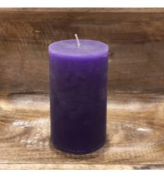 Rustična sveća valjak 8 x 14 cm Ljubičasta - 1 kom