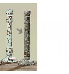 Drveni svećnjak Paraiso h31cm - bež