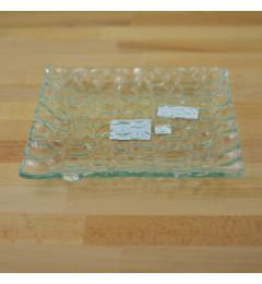 Staklena tacna, podmetač za sveću Thabo 20x20 cm