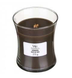 WoodWick Mirisna sveća u tegli M -  Oudwood (amber, mošus, vanila, tamjan)