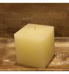 Rustična sveća kocka 9x9 cm Krem - 1 kom