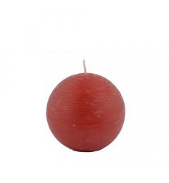 Rustična sveća kugla 8 cm Crvena - 1 kom