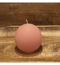 Rustična sveća kugla 8 cm Roza - 1 kom