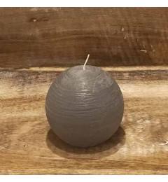 Rustična sveća kugla 8 cm Siva - 1 kom