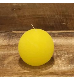 Rustična sveća kugla 8 cm Žuta - 1 kom