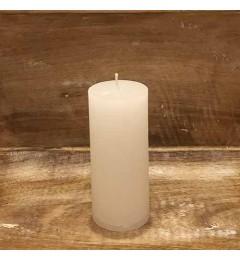 Rustična sveća valjak 5,5x12 cm Bela - 1  kom