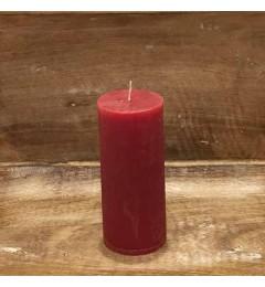 Rustična sveća valjak 5,5x12 cm Crvena - 1 kom